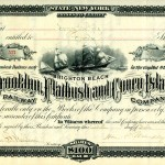 [Brooklyn, Flatbush, and Coney Island Railway Company stock certificate]